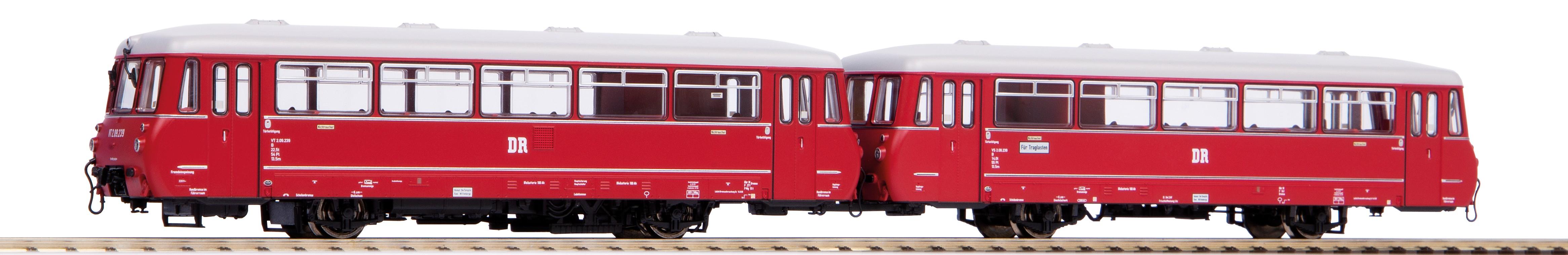Dieseltriebwagen VT 2.09 DR EpIII NEM PluX22 Piko 52880 H0 1:87 NEU HH4 µ